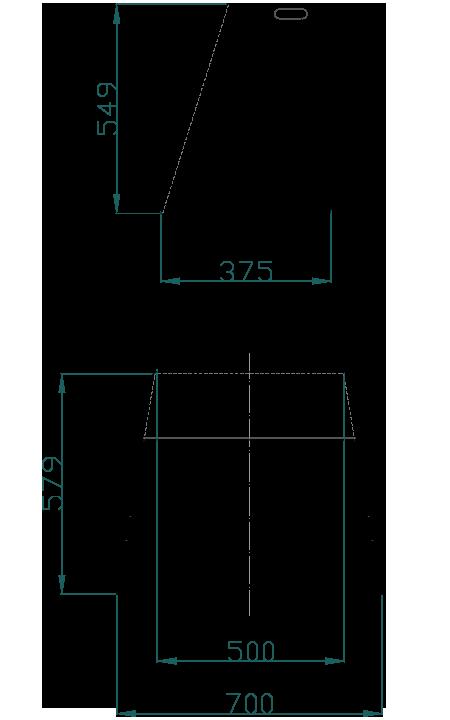 mamparas decodesk esquema modelo b